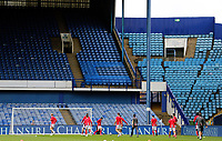 Nottingham Forest players arrive on the pitch in front of empty stands for the pre-match warm-up<br /> <br /> Photographer Rich Linley/CameraSport<br /> <br /> The EFL Sky Bet Championship - Sheffield Wednesday v Nottingham Forest - Saturday 20th June 2020 - Hillsborough - Sheffield <br /> <br /> World Copyright © 2020 CameraSport. All rights reserved. 43 Linden Ave. Countesthorpe. Leicester. England. LE8 5PG - Tel: +44 (0) 116 277 4147 - admin@camerasport.com - www.camerasport.com