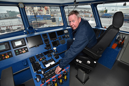 Shane McCole at the helm of the new Aran Islands direct ferry