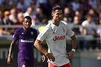 Calcio, Serie A: Fiorentina - Juventus, stadio Artemio Franchi Firenze 14 settembre 2019<br /> Juventus' Cristiano Ronaldo reacts during the Italian Serie A football match between Fiorentina and Juventus at Florence's Artemio Franchi stadium, September 14, 2019. <br /> UPDATE IMAGES PRESS/Isabella Bonotto