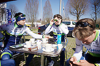 training/coffee ride with Team Orica-GreenEDGE at Monza (race circuit park) 1 day before the Milan-San Remo