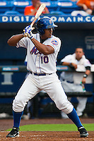 Jefry Marte #10 of the St. Lucie Mets during game 3 of the Florida State League Championship Series against the Daytona Cubs at Digital Domain Park on Spetember 11, 2011 in Port St. Lucie, Florida. Daytona won the game 4-2 to win the Florida State League Championship.  Photo by Scott Jontes / Four Seam Images