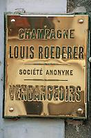 Europe/France/Champagne-Ardenne/51/Marne/Cumières: Plaque Vendangoirs Roederer - Champagne de la vallée de la Marne