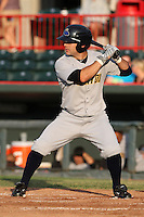 Trenton Thunder Outfielder Austin Krum (9) during a game vs. the Erie Seawolves at Jerry Uht Park in Erie, Pennsylvania;  June 23, 2010.   Trenton defeated Erie 12-7  Photo By Mike Janes/Four Seam Images