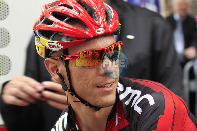 Philippe Gilbert (BEL) BMC Racing Team at sign on before the start of Stage 2 of the 99th edition of the Tour de France 2012, running 207.5km from Vise to Tournai, Belgium. 2nd July 2012.<br /> (Photo by Eoin Clarke/NEWSFILE)