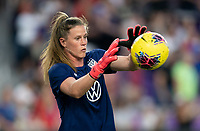 ORLANDO, FL - MARCH 05: Alyssa Naeher #1 of the United States warms up during a game between England and USWNT at Exploria Stadium on March 05, 2020 in Orlando, Florida.