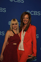 """Guiding Light Allison Janney stars with Anna Faris in new show """"Mom"""" at the CBS Upfront on May 15, 2013 at Lincoln Center, New York City, New York. (Photo by Sue Coflin/Max Photos)"""
