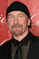 PALM SPRINGS, CA - JANUARY 04: The Edge, David Howell Evans of U2 arriving at the 25th Annual Palm Springs International Film Festival Awards Gala held at Palm Springs Convention Center on January 4, 2014 in Palm Springs, California. (Photo by Xavier Collin/Celebrity Monitor)