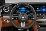 Car pictures of steering wheel view of a 2021 Mercedes Benz E-Class AMG-Line 4 Door Convertible Steering Wheel