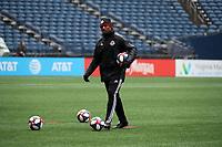 SEATTLE, WA - NOVEMBER 9: Assistant coach Jason Bent of Toronto FC at CenturyLink Field on November 9, 2019 in Seattle, Washington.