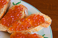 "Slices of bread with eggs from salmon  ""Caviar et Prestige"" Saint Sulpice et Cameyrac  Entre-deux-Mers  Bordeaux Gironde Aquitaine France - at Caviar et Prestige"