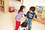 Education preschool 2-3 year olds conflict between boy and girl