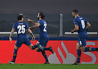 Football Soccer: UEFA Champions League -Round of 16 2nd leg Juventus vs FC Porto, Allianz Stadium. Turin, Italy, March 9, 2021.<br /> Porto's Sergio Oliveira (C) celebrates after scoring with his teamates during the Uefa Champions League football soccer match between Juventus and Porto at Allianz Stadium in Turin, on March 9, 2021.<br /> UPDATE IMAGES PRESS/Isabella Bonotto