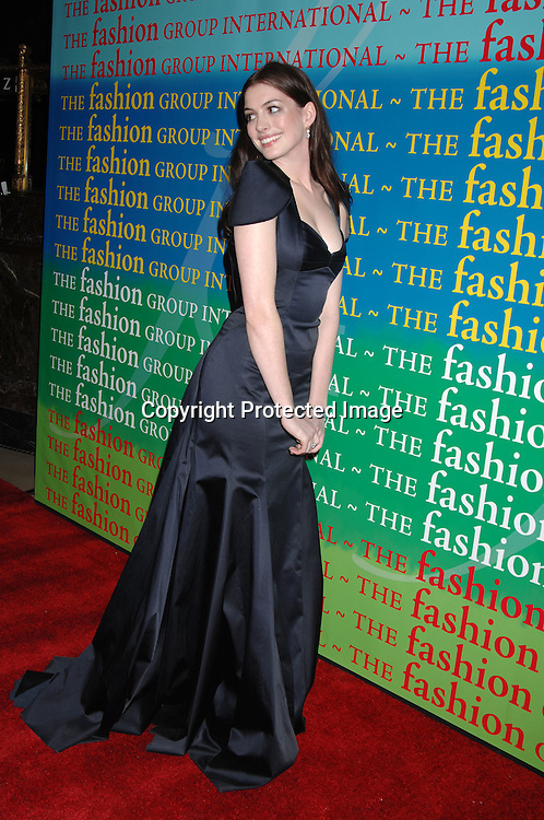 Anne Hathaway ..at The Fashion Group International 's Night of Stars Gala ..on October 26, 2006 at Cipriani 42nd Street. ..Robin Platzer, Twin Images