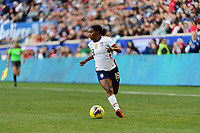 HARRISON, NJ - MARCH 08: Crystal Dunn #19 of the United States during a game between Spain and USWNT at Red Bull Arena on March 08, 2020 in Harrison, New Jersey.