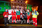 The Tralee branch of the Red Cross launch their Red Fred Christmas Drive on Saturday and it will be held on Saturday December the 19th. L to r: James Smullen, Steve O'Connor, Nathan Commerford, Santa Claus, Jelly the Elf and Red Fred.
