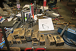 Old tools and workbench De Rosa factory, Cusano Milanino, Italy. 30th September 2015.<br /> Picture: Eoin Clarke   Newsfile