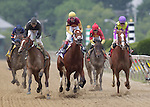 R Holiday Mood (#10), John Velazquez up, wins the Miss Preakness Stakes on May 20, 2011 at Pimlico Race Course, Baltimore, MD. (Photo by Joan Fairman Kanes/Eclipse Sportswire)