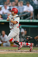April 13, 2009:  Second Baseman Colt Sedbrook (22) of the Palm Beach Cardinals, Florida State League Class-A affiliate of the St. Louis Cardinals, during a game at Hammond Stadium in Fort Myers, FL.  Photo by:  Mike Janes/Four Seam Images