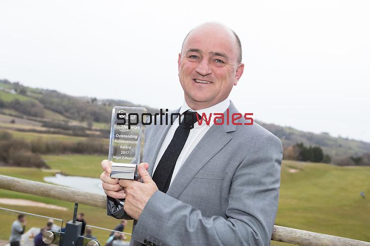 Wales Golf Awards 2017<br /> 23.03.18<br /> Nigel Edwards<br /> Steve Pope ©Sportingwales