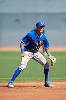 Kansas City Royals Nicky Lopez (4) during an Instructional League game against the Texas Rangers on October 4, 2016 at the Surprise Stadium Complex in Surprise, Arizona.  (Mike Janes/Four Seam Images)