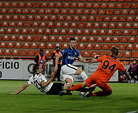 Ivan Persic of Inter shoots and scores  during the  italian serie a soccer match,Spezia Inter Milan at  the STadio Picco in La Spezia Italy ,