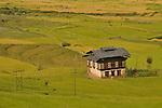 A typical Bhutanese house on a firmland at Punakha. Arindam Mukherjee..