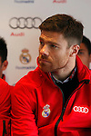Real Madrid player Xabi Alonso participates and receives new Audi during the presentation of Real Madrid's new cars made by Audi at the Jarama racetrack on November 8, 2012 in Madrid, Spain.(ALTERPHOTOS/Harry S. Stamper)