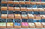 Provençal soaps for sale at an open-air market in the Place des Precheurs, Aix-en-Provence, France