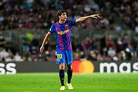 14th September 2021: Nou Camp, Barcelona, Spain: ECL Champions League football, FC Barcelona versus Bayern Munich: Roberto Of Braca  signals to team mates