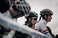 Maud Kaptheijns (NED/Crelan-Charles) on teh start line<br /> <br /> Women's Elite race<br /> <br /> UCI cyclocross World Cup Koksijde / Belgium 2017