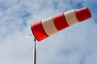 windsock to indicate the direction os the wind