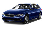 2018 BMW 3 Series Touring 330i xDrive 5 Door Wagon angular front stock photos of front three quarter view