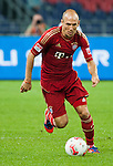 GUANGZHOU, GUANGDONG - JULY 26:  Arjen Robben of Bayern Munich in action during a friendly match against VfL Wolfsburg as part of the Audi Football Summit 2012 on July 26, 2012 at the Guangdong Olympic Sports Center in Guangzhou, China. Photo by Victor Fraile / The Power of Sport Images