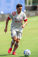 LAKE BUENA VISTA, FL - JULY 13: \Marky Delgado #8 of Toronto FC dribbles the ball during a game between D.C. United and Toronto FC at Wide World of Sports on July 13, 2020 in Lake Buena Vista, Florida.