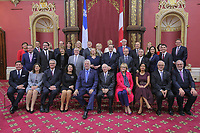 The new Liberal cabinet poses for a photo at the National Assembly in Quebec City October  11, 2017.<br /> <br /> PHOTO :  Francis Vachon - Agence Quebec Presse