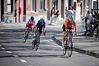 Ellen Van Dijk (NED/Trek Segafredo) forcing a break with 4km to go<br /> <br /> Women Elite - Road Race (WC)<br /> from Antwerp to Leuven (158km)<br /> <br /> UCI Road World Championships - Flanders Belgium 2021<br /> <br /> ©kramon