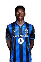 20th August 2020, Brugge, Belgium;  Noah Mbamba pictured during the team photo shoot of Club Brugge NXT prior the Proximus league football season 2020 - 2021 at the Belfius Base camp