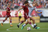 Jacksonville, FL - Thursday April 5, 2018: Mónica Flores, Lindsey Horan during an International friendly match versus the women's National teams of the United States (USA) and Mexico (MEX) at EverBank Field.