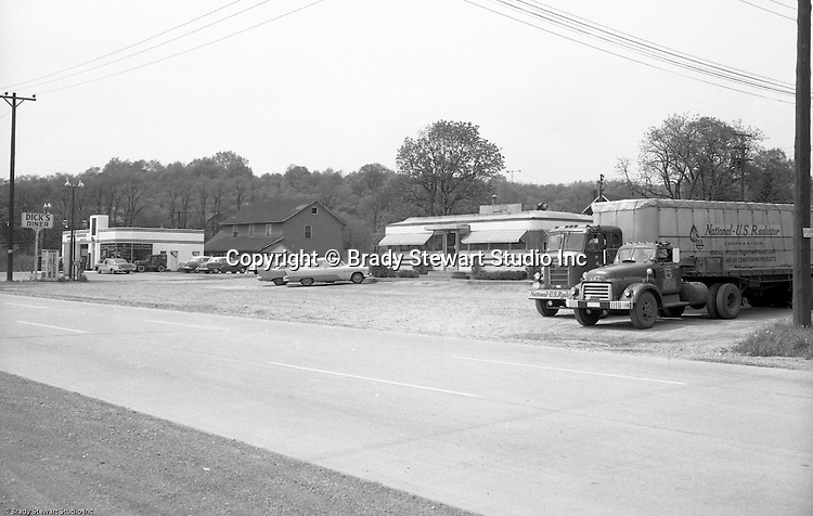Murrysville PA:  View of an accident scene on Route 22 in Murrysville near Dick's Diner.  Photos were taken for the Pittsburgh law firm of Reed, Smith, Shaw, and McClay.  Brady Stewart Studio worked with a number of local and out-of-town attorney's to photograph the scene, make prints and mount them for court exhibits