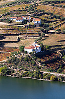 douro river and steep vineyards quinta das sopas douro portugal