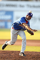 Auburn Doubledays pitcher Manuel Rivera #17 during a game against the Batavia Muckdogs at Dwyer Stadium on July 17, 2011 in Batavia, New York.  Batavia defeated Auburn 8-3.  (Mike Janes/Four Seam Images)
