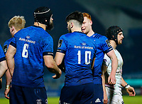 19th March 2021; RDS Arena, Dublin, Leinster, Ireland; Guinness Pro 14 Rugby, Leinster versus Ospreys; Harry Byrne of Leinster celebrates scoring the opening try for 5 - 0