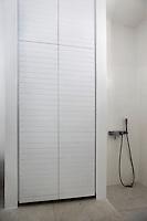 contemporary white closet