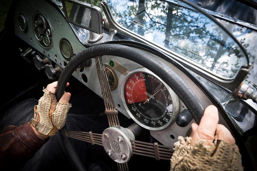 6/06/19 - ORVAL - CHER - FRANCE - Essais MG J2 ex Jacques Potherat de 1933. ATTENTION. Effacer l immatriculation lors des parutions - Photo Jerome CHABANNE