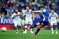 22nd September 2021: RCDE Stadium, Barcelona, Spain: La Liga Football, Espanyol versus Atletico Madrid; <br /> Raul de Tomas of RCD Espanyol scores his goal