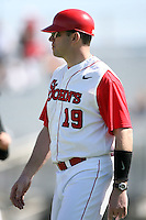 February 21, 2009:  Coach Mike Hampton (19) of St. John's University during the Big East-Big Ten Challenge at Jack Russell Stadium in Clearwater, FL.  Photo by:  Mike Janes/Four Seam Images