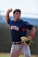 GCL Red Sox catcher Alex McKeon (37) during practice before a game against the GCL Rays on June 24, 2014 at Charlotte Sports Park in Port Charlotte, Florida.  GCL Red Sox defeated the GCL Rays 5-3.  (Mike Janes/Four Seam Images)