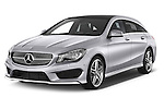 2015 Mercedes Benz CLA Class 220 AMG line 5 Door Wagon angular front stock photos of front three quarter view