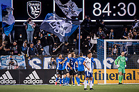 SAN JOSE, CA - MAY 01: San Jose Earthquakes players celebrate a goal during a game between San Jose Earthquakes and D.C. United at PayPal Park on May 01, 2021 in San Jose, California.
