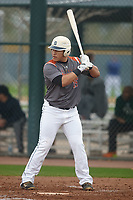 Jose Gutierrez (15) of Lamar High School in Arlington, Texas during the Under Armour All-American Pre-Season Tournament presented by Baseball Factory on January 14, 2017 at Sloan Park in Mesa, Arizona.  (Kevin C. Cox/MJP/Four Seam Images)